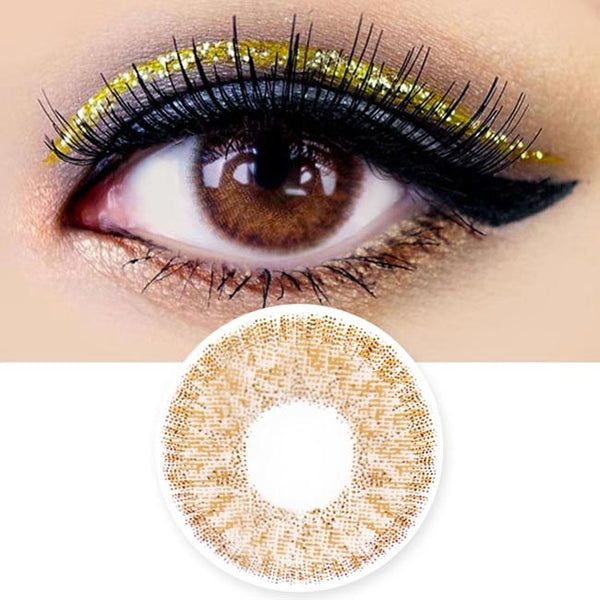 Colored Contacts Alice Dione Chocolate Brown - Circle Lenses