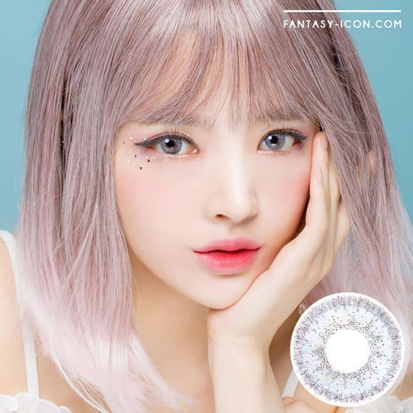 Colored Contacts Alice Dione Grey - Circle Lenses 1