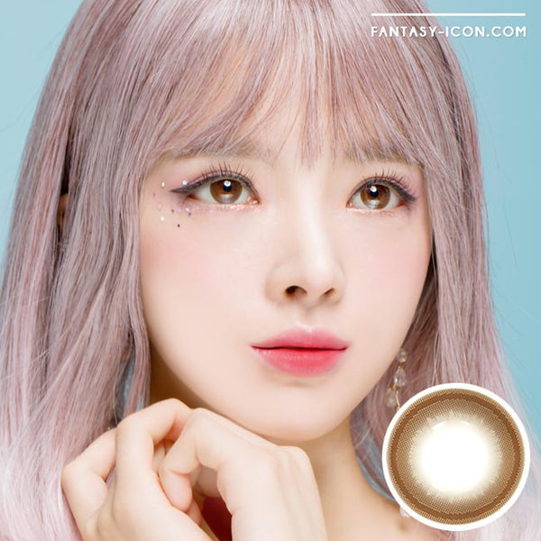 Colored contacts for Hyperopia Honey Chocolate Brown 1