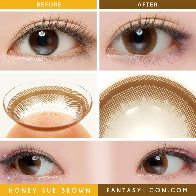 Colored contacts for Hyperopia Honey Chocolate Brown 3