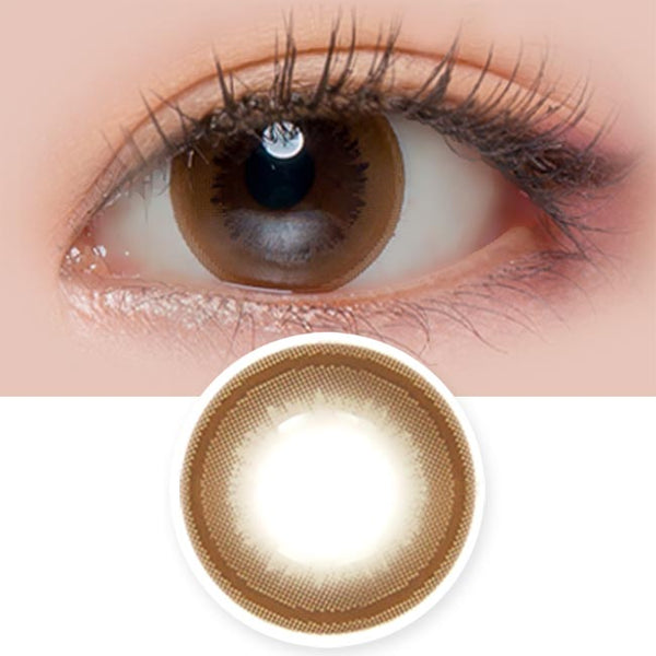 Honey Chocolate Brown Contacts for Hyperopia - farsightedness
