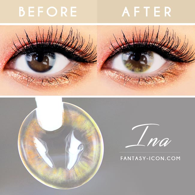 Ina Brown Colored Contacts 3