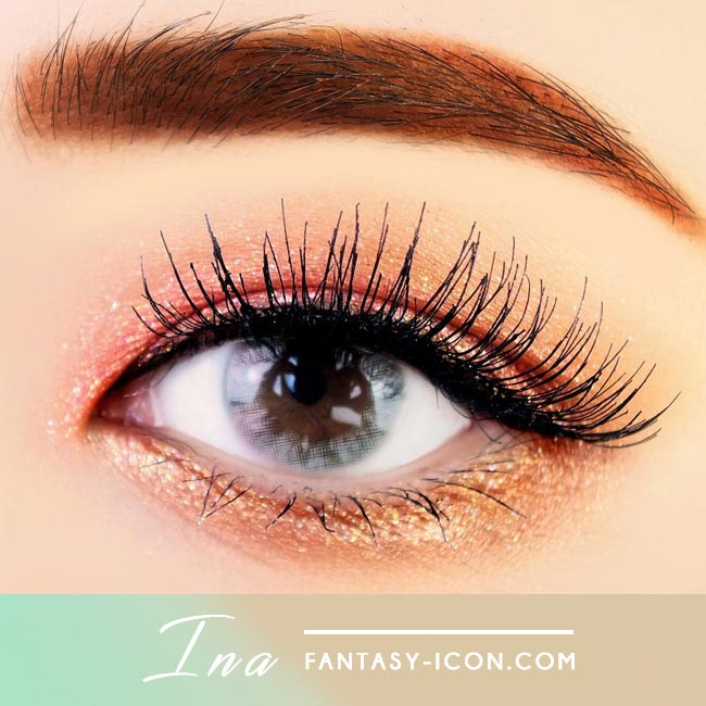 Ina Grey Colored Contact Lenses 2