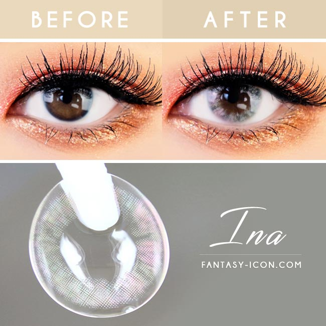 Ina Grey Colored Contact Lenses 3