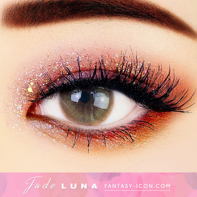 Jade Luna Brown Colored Contacts - Circle Lens eye