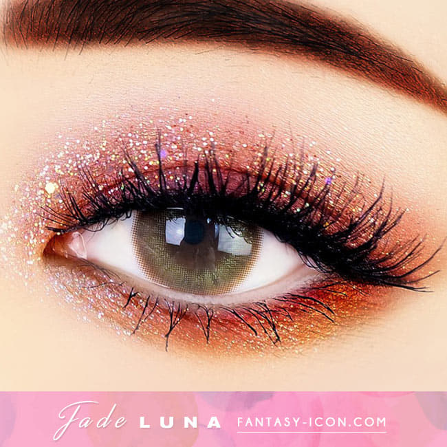 Jade Luna Brown Colored Contacts - Brown Lens eye