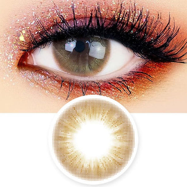 Jade Luna Brown Colored Contacts - Circle Lens