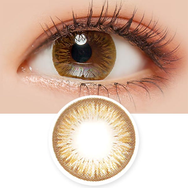 Toric Lens Jolie Chocolate Brown Colored Contacts For Astigmatism