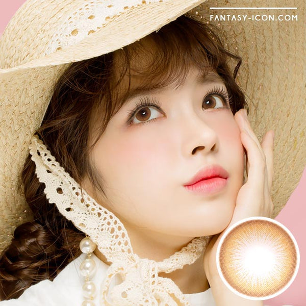 Colored Contacts Lady Girl 1 Brown - Circle Lenses 1