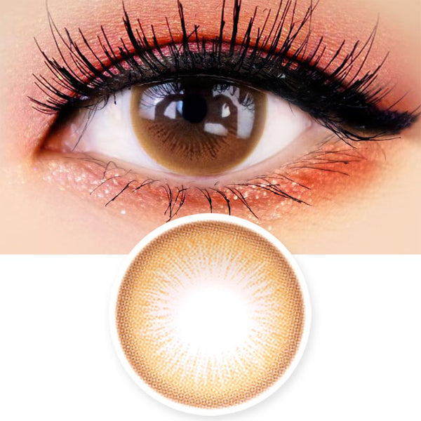 Colored Contacts Lady Girl 1 Brown - Circle Lenses