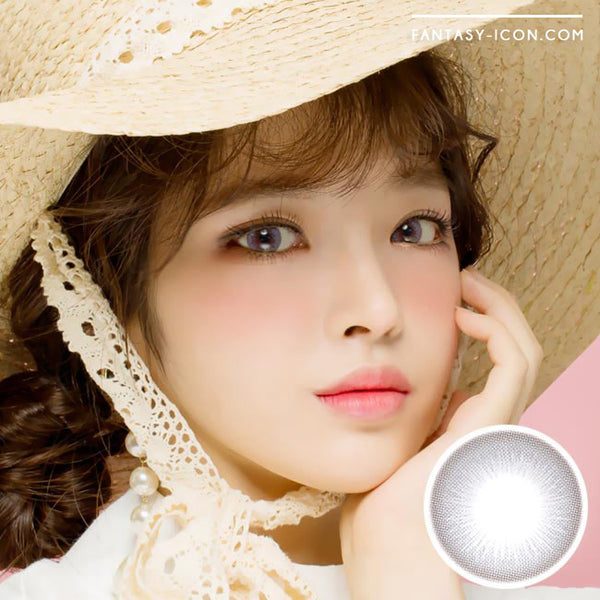 Colored Contacts Lady Girl 1 Grey - Circle Lenses 1