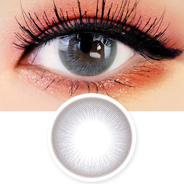 Colored Contacts Lady Girl 1 Grey - Circle Lenses