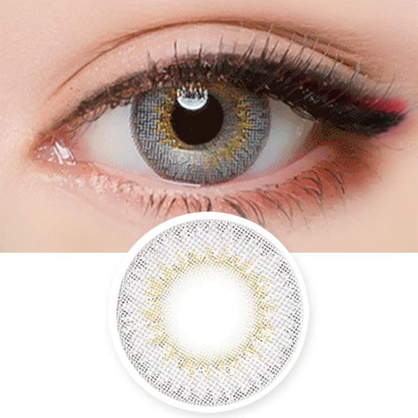Colored Contacts Lady Girl 2 Grey - Circle Lenses