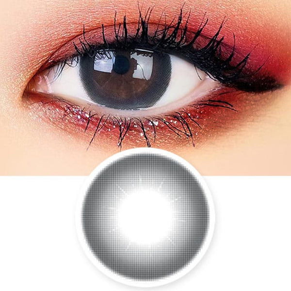 Lily Amber Black Colored Contacts - Circle Lens