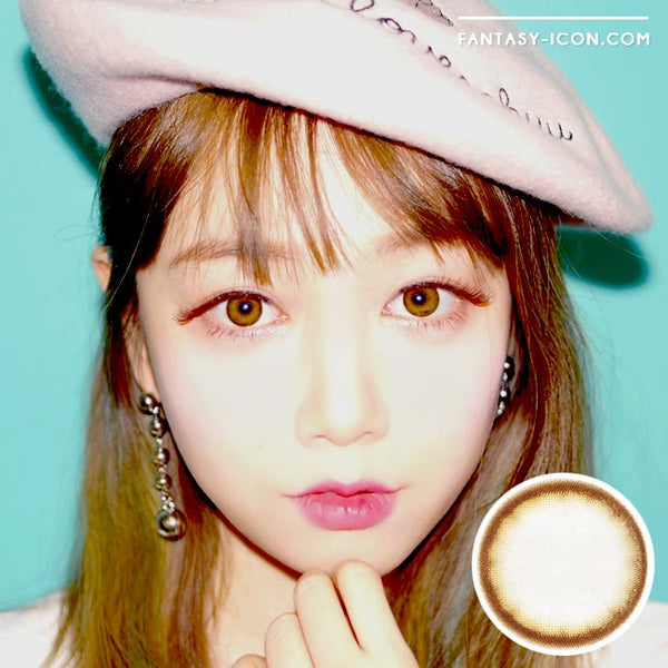 Colored contacts for Hyperopia Lottie Soa Chocolate Brown 1