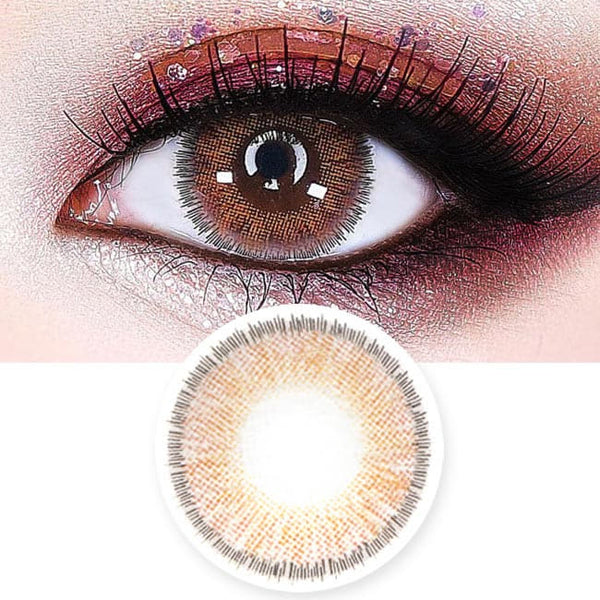 Lucky Dali Brown Colored Contacts for Hperopyia - farsightedness