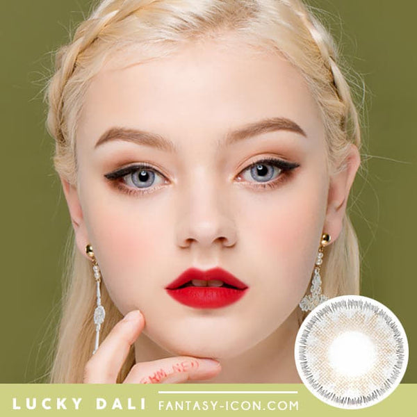 Lucky Dali Grey Colored Contacts for Hperopyia - model