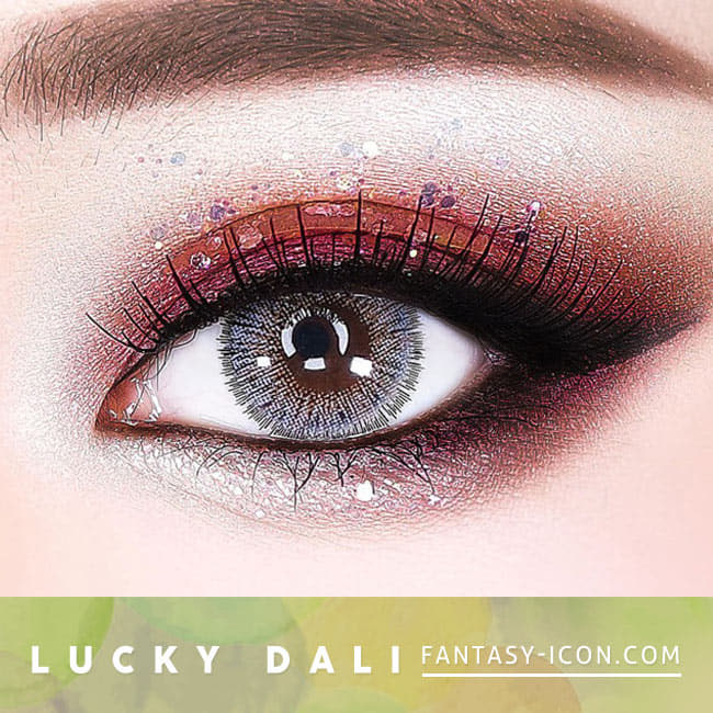 Lucky Dali Grey Toric Lens - Gray Colored Contacts for Astigmatism eyes 2