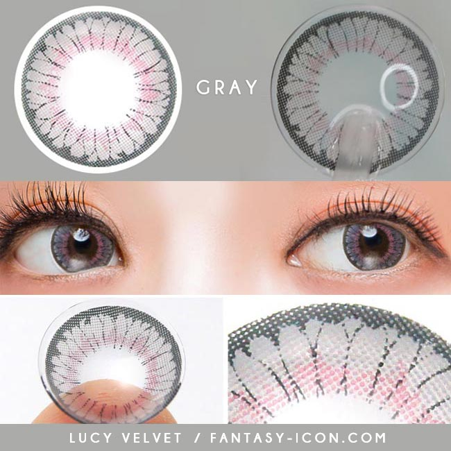 Colored Contacts - Lucy Velvet Grey Circle Lenses 4