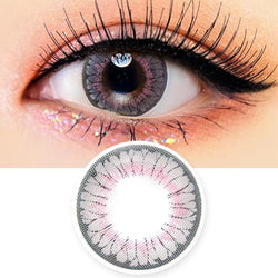 Colored Contacts - Lucy Velvet Grey Circle Lenses