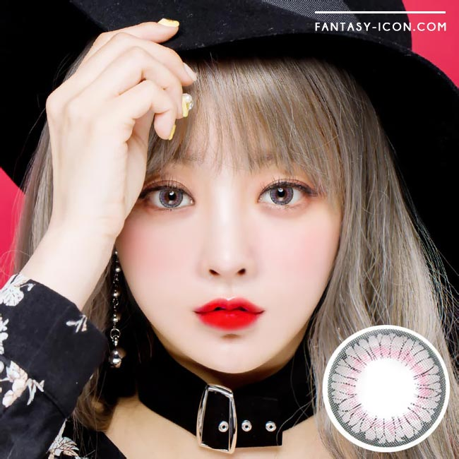 Colored contacts for Hyperopia Lucy Velvet Grey 1