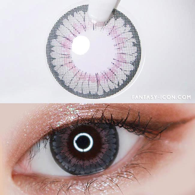 Colored contacts for Hyperopia Lucy Velvet Grey 2
