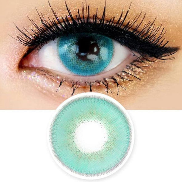 Innovision Luxury Fiore Aqua Blue Contacts | UV Blocking