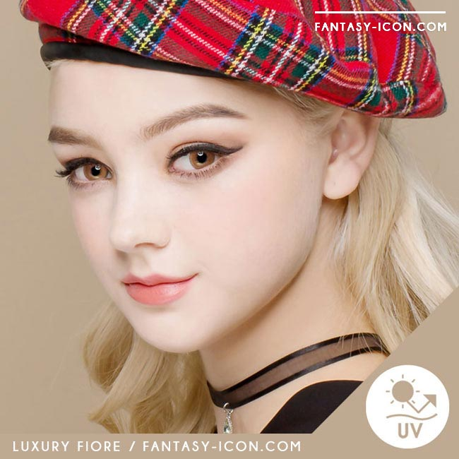 Luxury Fiore Brown Colored Contact Lenses