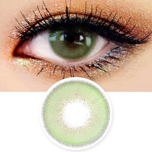 Innovision Luxury Fiore Green Contacts | UV Blocking