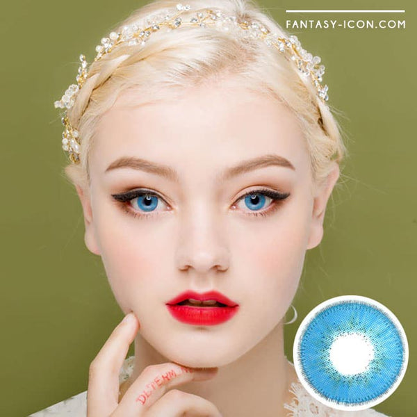 Innovision Luxury Fiore Sapphire Blue Contacts | UV Blocking