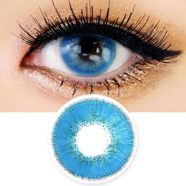 Innovision Luxury Fiore Sapphire Blue Contacts