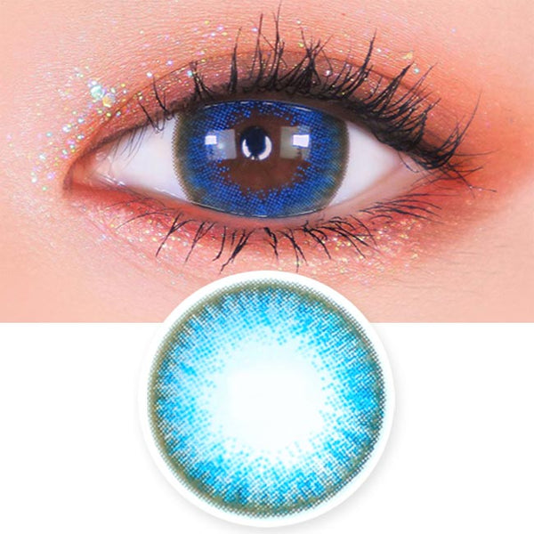 Luz Dali Extra Blue Contacts | Aqua Circle Lens