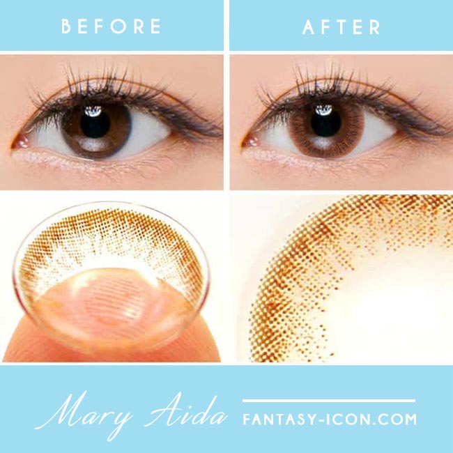 Colored Contacts Mary Aida Brown - Circle Lenses 3