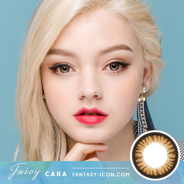 Juicy Cara Brown Colored Contacts model