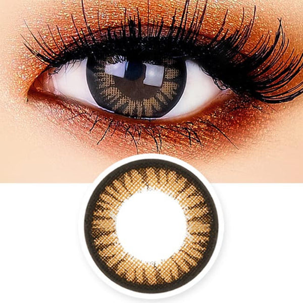 Juicy Cara Brown Colored Contacts - Circle Lens