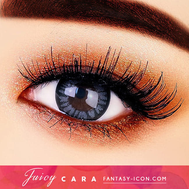 Juicy Cara Grey Colored Contacts - Circle Lenses eyes