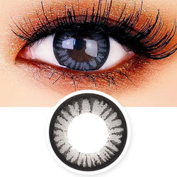 Juicy Cara Grey Colored Contacts - Circle Lenses