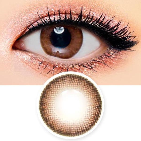 Milky Chocoview Brown Colored Contacts - Circle Lenses