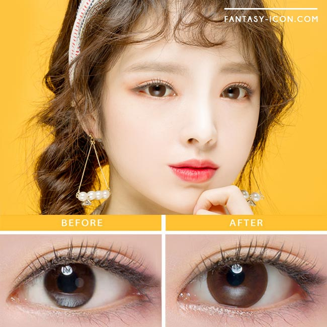 Colored contacts for Hyperopia Milky Dali Brown Black 3