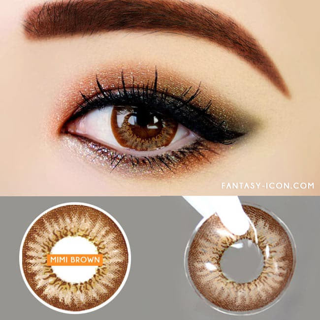 Colored contacts for Hyperopia Mimi Needstem Brown 2