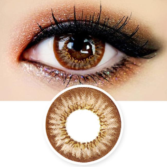 Colored contacts for Hyperopia Mimi Needstem Brown