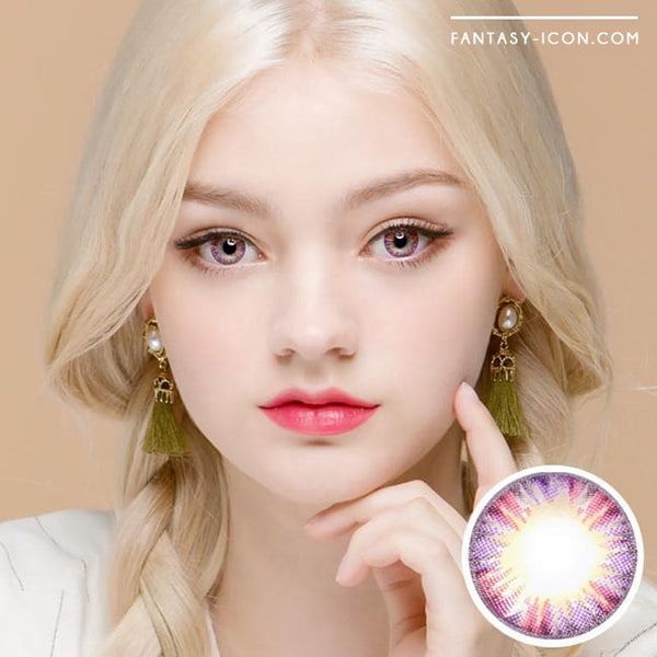 Colored Contacts Minette Purple Violet  - Circle Lenses 1
