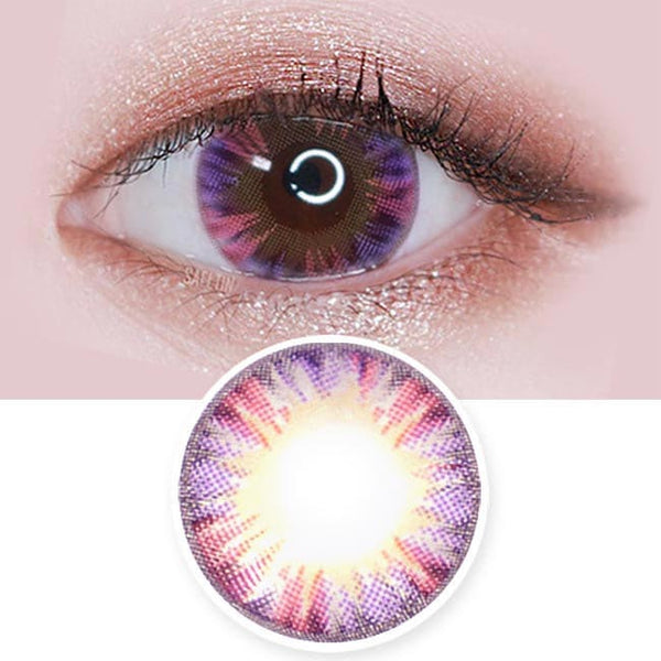 Colored Contacts Minette Purple Violet  - Circle Lenses