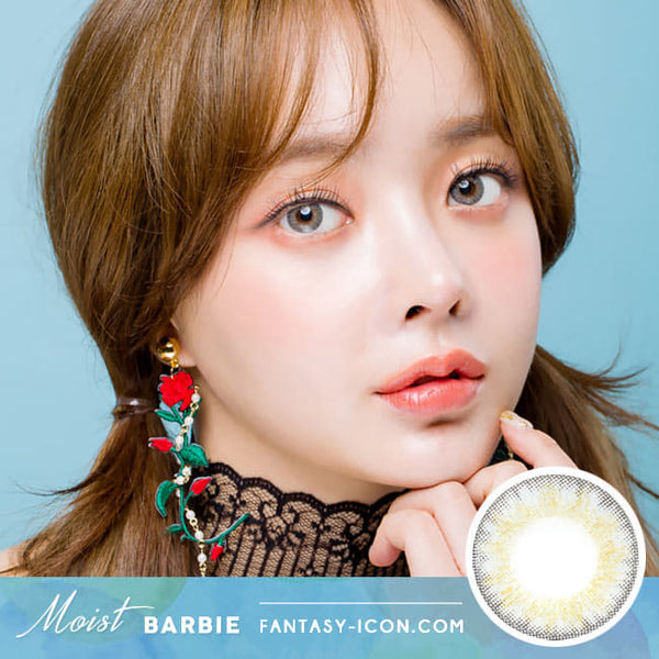 Colored Contacts For Astigmatism Moist Barbie 3 tone Grey Toric Lens model