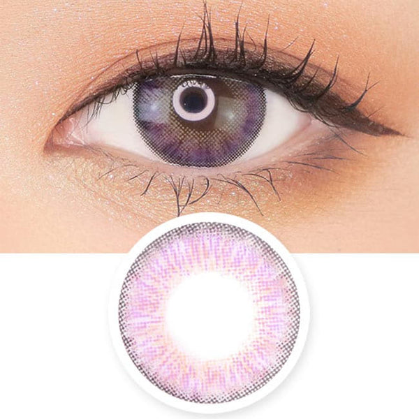Toric Lens Violet Colored Contacts For Astigmatism Moist Barbie 3 tone