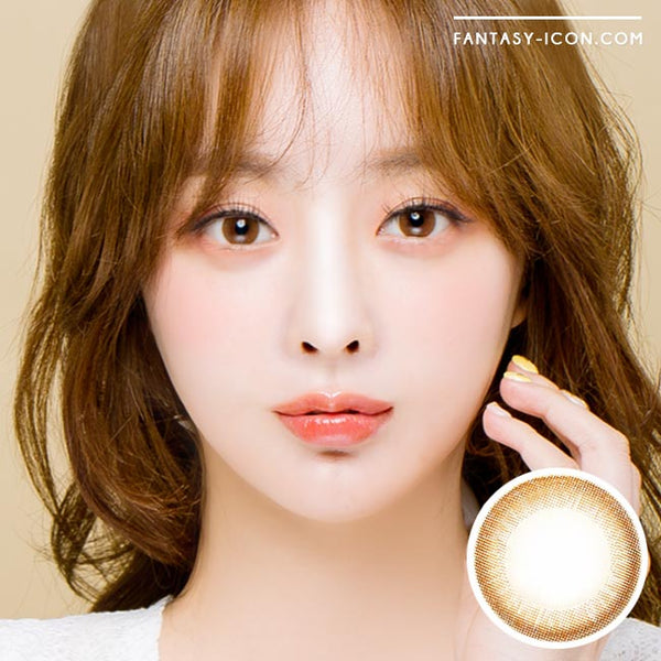 Colored Contacts Luna Monet Brown - Circle Lenses 1