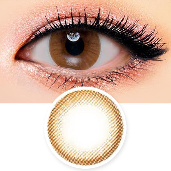 Toric Lens Luna Monet Brown Colored Contacts For Astigmatism