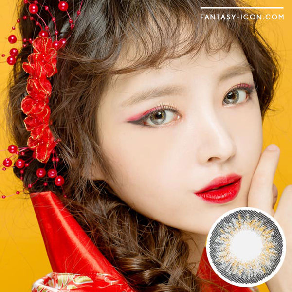 Colored Contacts Ocho Grey - Circle Lenses 1