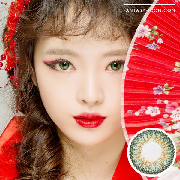 Colored Contacts Ocho Green - Circle Lenses 1