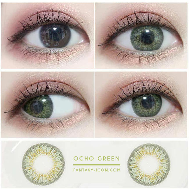 Colored Contacts Ocho Green - Circle Lenses 2